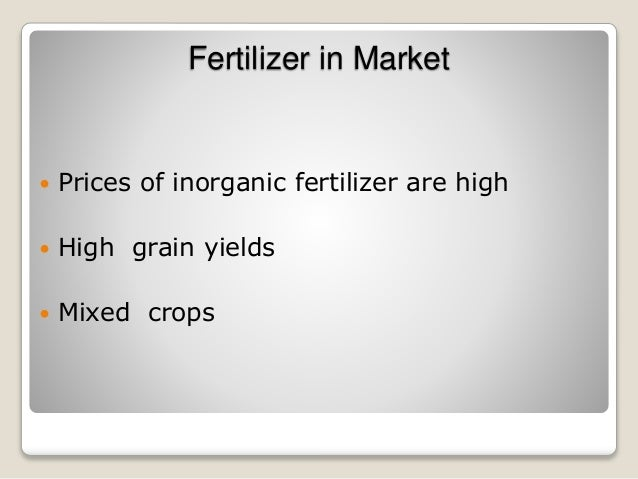 do you realize organic fertilizer production Your organic fertilizer production business plan is a written business document that will guide you in setting up and running your business it will contain various strategies that you intend to apply in operating your business in a nutshell, it is the blue print of your business so you are expected to pay serious attention to it.