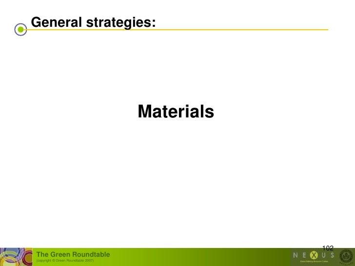 General strategies:                                           Materials                                                   ...