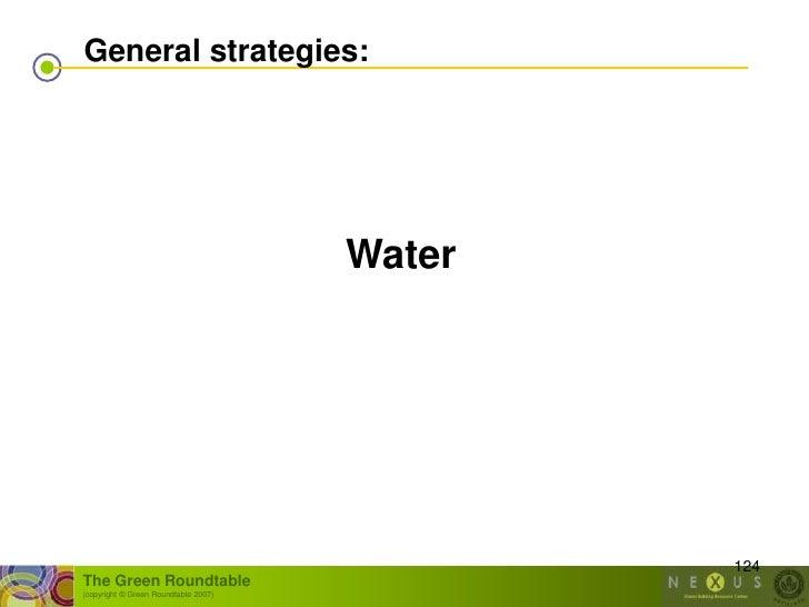 General strategies:                                           Water                                                   124 ...