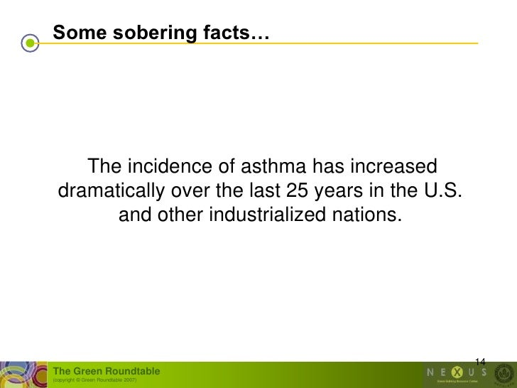 Some sobering facts…          The incidence of asthma has increased   dramatically over the last 25 years in the U.S.     ...