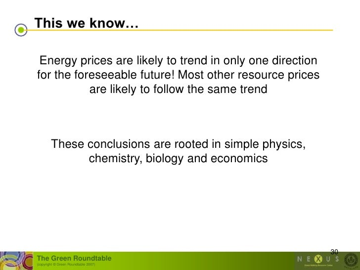 This we know…   Energy prices are likely to trend in only one direction for the foreseeable future! Most other resource pr...