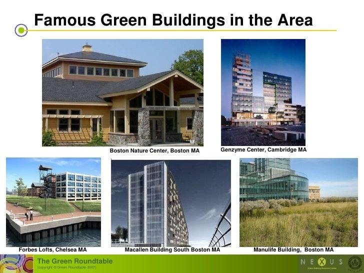 Famous Green Buildings in the Area                                                 Boston Nature Center, Boston MA        ...