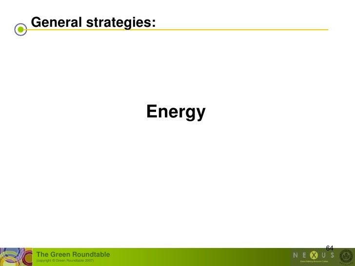 General strategies:                                           Energy                                                    64...