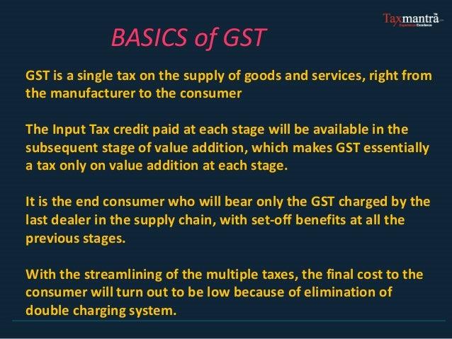 Basics of GST ( Goods & Service Tax) Slide 2
