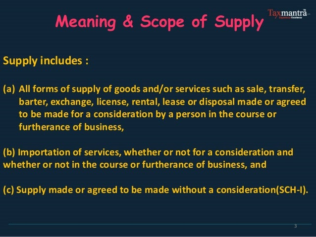 Basics of GST ( Goods & Service Tax) Slide 3
