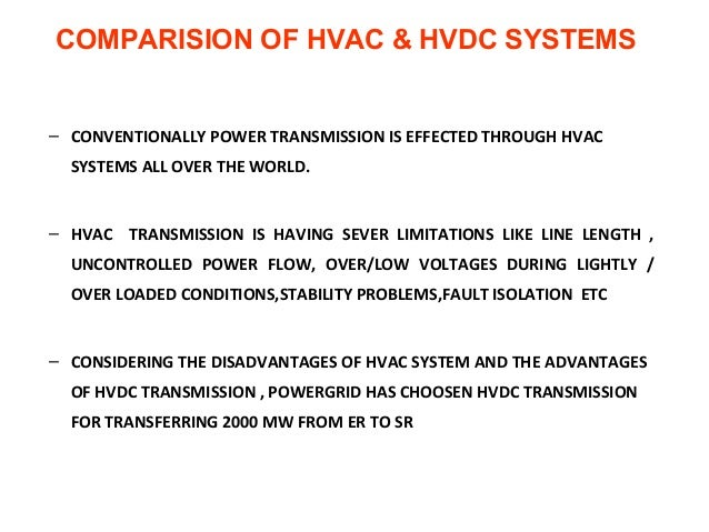 hvdc advantages and disadvantages pdf