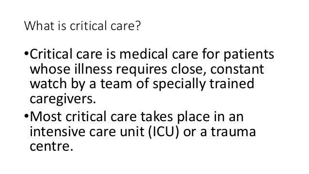 Basics of icu care