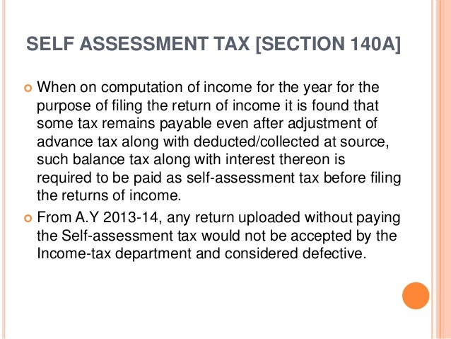 Sample Tax Assessment