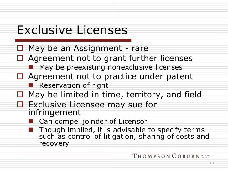 license to assign a contract