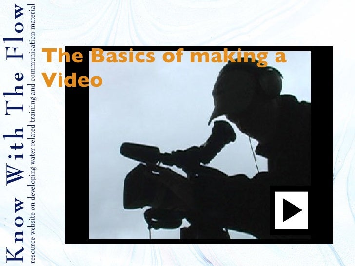 The Basics of making a Video