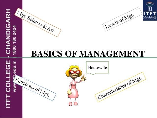 BASICS OF MANAGEMENT Housewife
