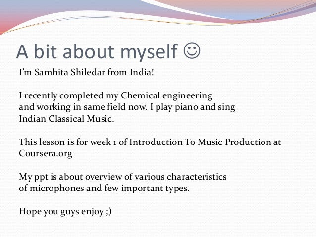 Basics of microphone Slide 2