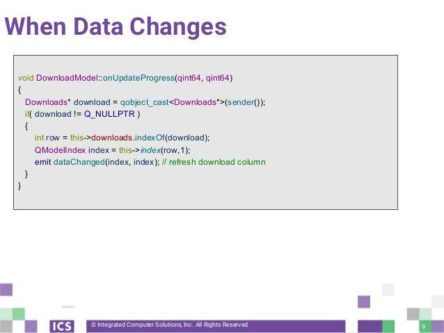 Basics of Model/View Qt programming
