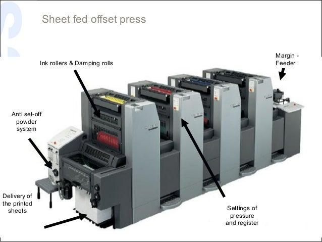 Sheet fed offset press                                                           Margin -              Ink rollers & Dampi...