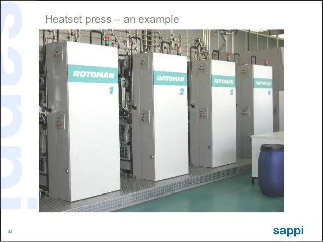 Heatset press – an example52