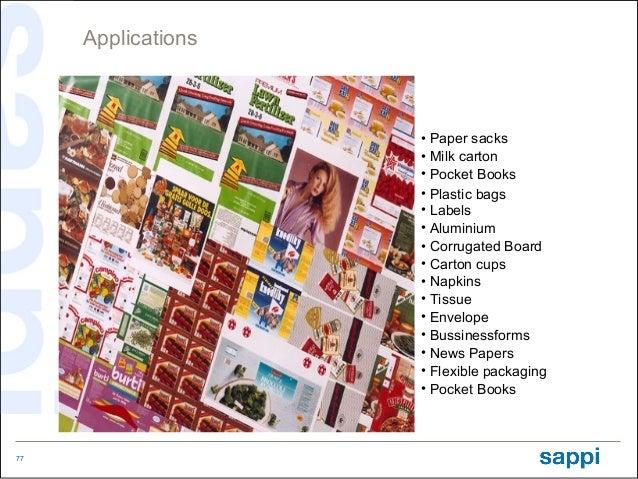 Applications                    • Paper sacks                    • Milk carton                    • Pocket Books          ...