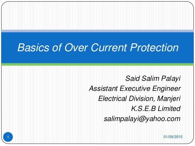 Said Salim Palayi Assistant Executive Engineer Electrical Division, Manjeri K.S.E.B Limited salimpalayi@yahoo.com Basics o...