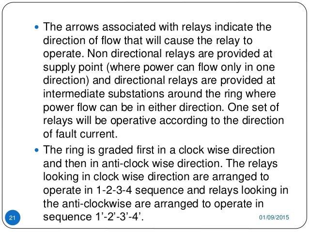 01/09/201521  The arrows associated with relays indicate the direction of flow that will cause the relay to operate. Non ...