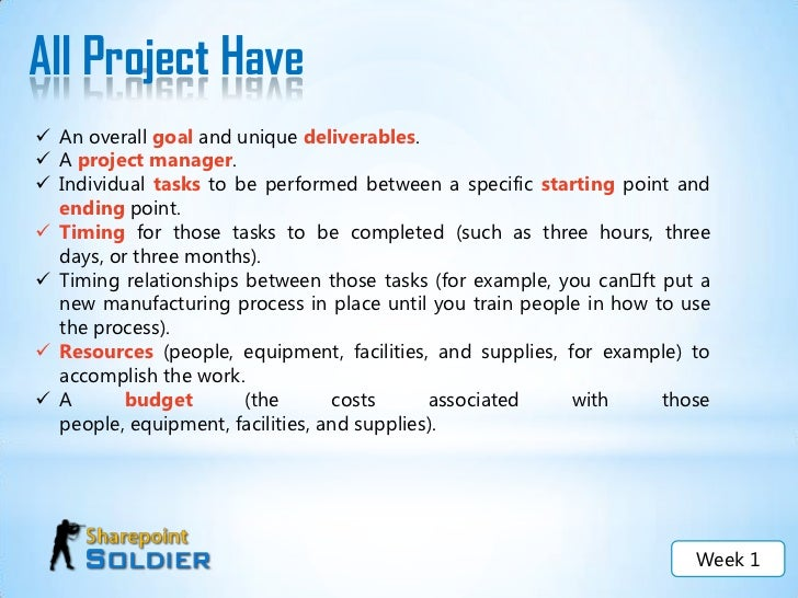 project management week 2 Whether you are moving into a project management role or want to master real-world project management skills to advance in your current position, you can add project management to your résumé as quickly as possible with our fully online certificate program in project management.