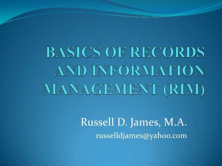 Russell D. James, M.A.   russelldjames@yahoo.com