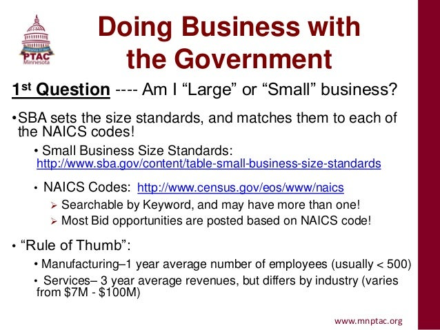 Basics of selling to the government 4 16-13