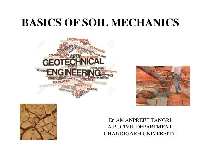 Basics of soil mechanics for Soil mechanics pdf