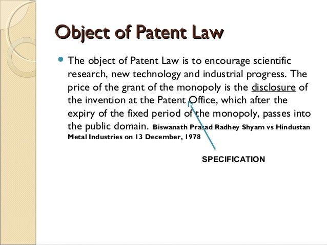 object of patent