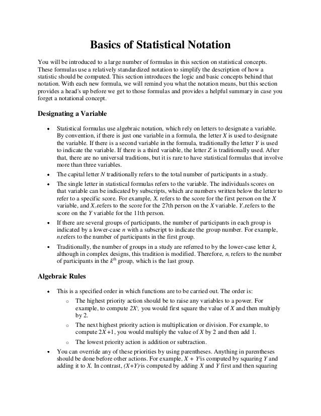 statistical notation Microsoft word - statistics cheat sheet2docx author: helen yang created date: 6/4/2009 11:56:03 am.