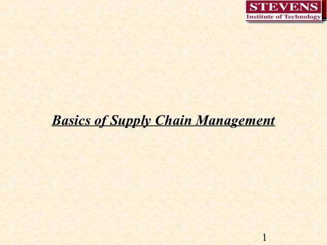 Basics of Supply Chain Management  1