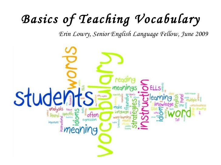 Basics Of Teaching Vocabulary
