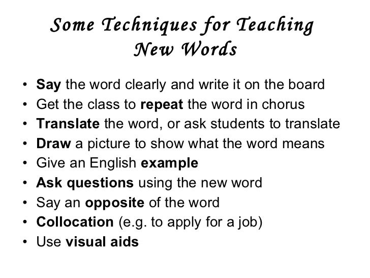 techniques for teaching vocabulary Which techniques do you use to introduce new vocabulary  teaching english vocabulary  0 691,370 0 vocabulary 4 fresh ways to introduce new vocabulary 0 .