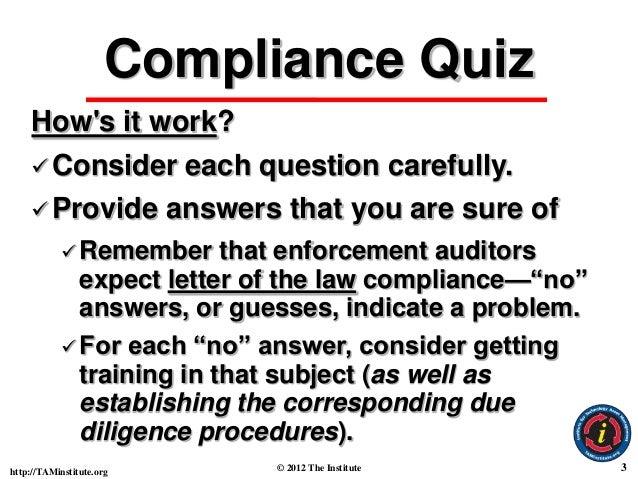 Basic Software License & Copyright Compliance Quiz