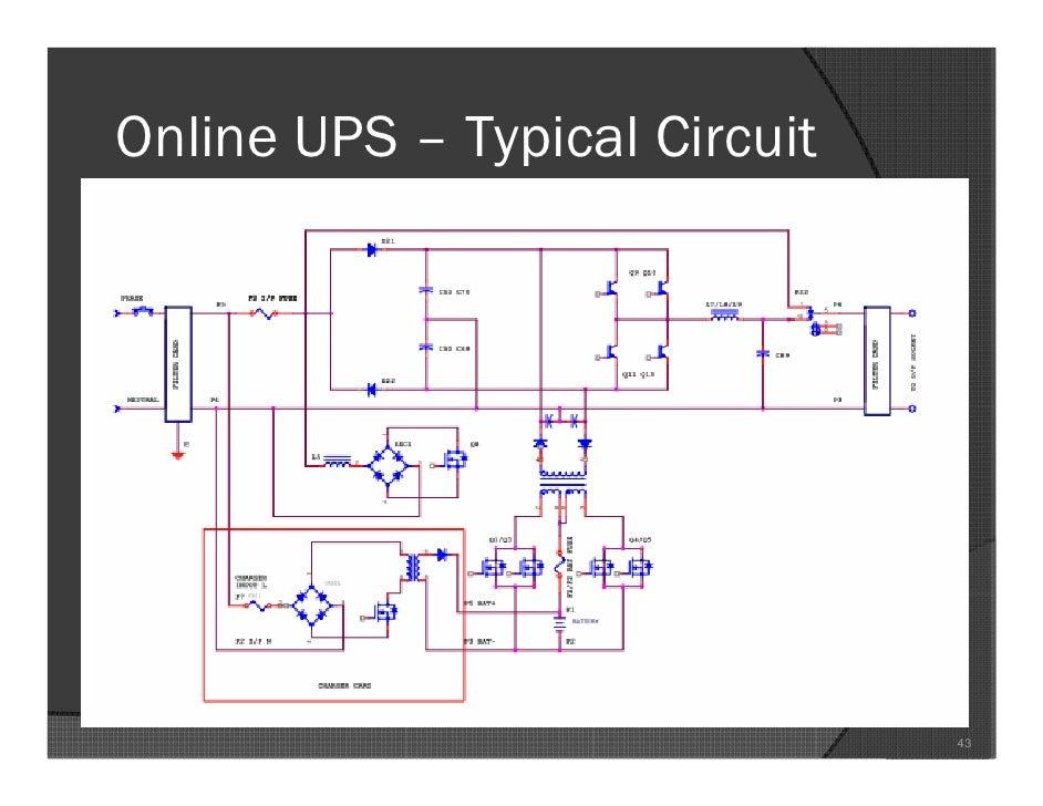 Typical ups circuit diagram wiring diagrams basics of ups seminar presentation rh slideshare net online circuit diagram rectifier circuit diagram asfbconference2016 Choice Image