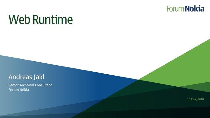 Basics of web runtime