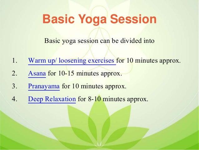 Basics Of Asana Pranayama