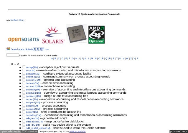 Solaris 10 The Complete Reference Pdf