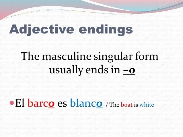 Basic Spanish Grammar: Adjectives
