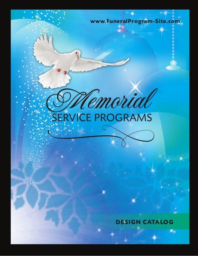 Funeral Program Examples