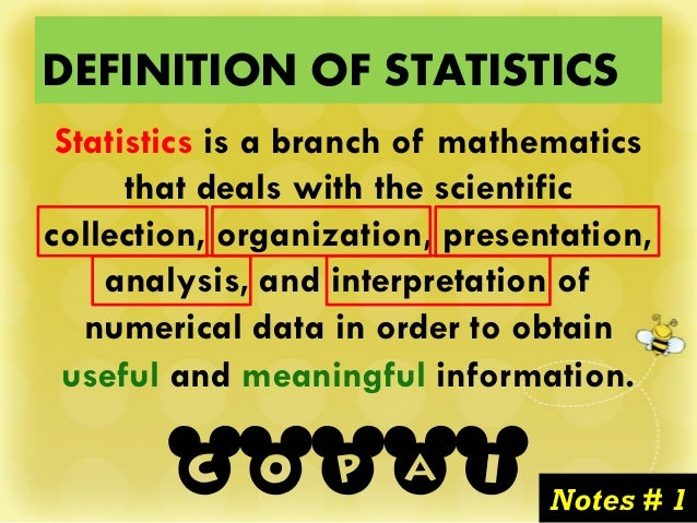 Introduction to Statistics - Basic Statistical Terms