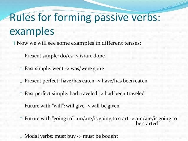 active voice passive voice