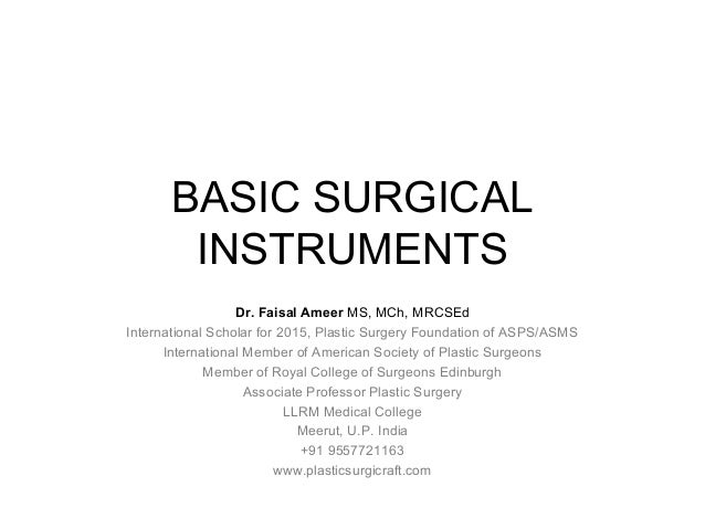 Learning Surgical Instruments Pdf
