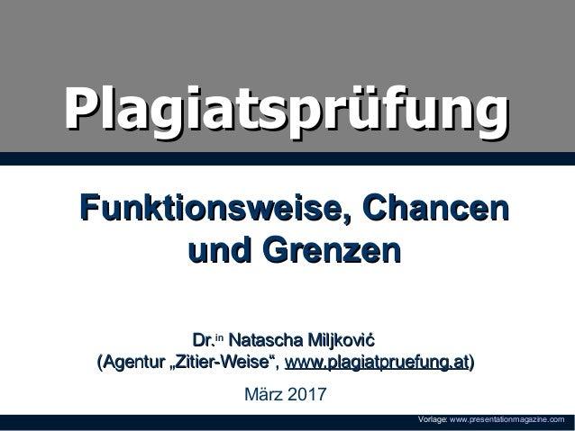 "PlagiatsprüfungPlagiatsprüfung Dr.Dr.inin Natascha MiljkovićNatascha Miljković (Agentur ""Zitier-Weise"",(Agentur ""Zitier-We..."