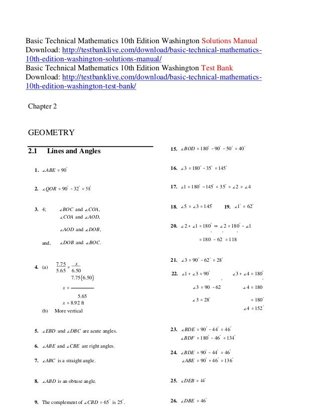 Basic college mathematics 12th edition bittinger solutions manual.