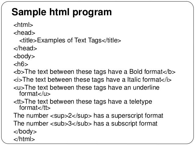 10 html program for different computer output tags youtube.