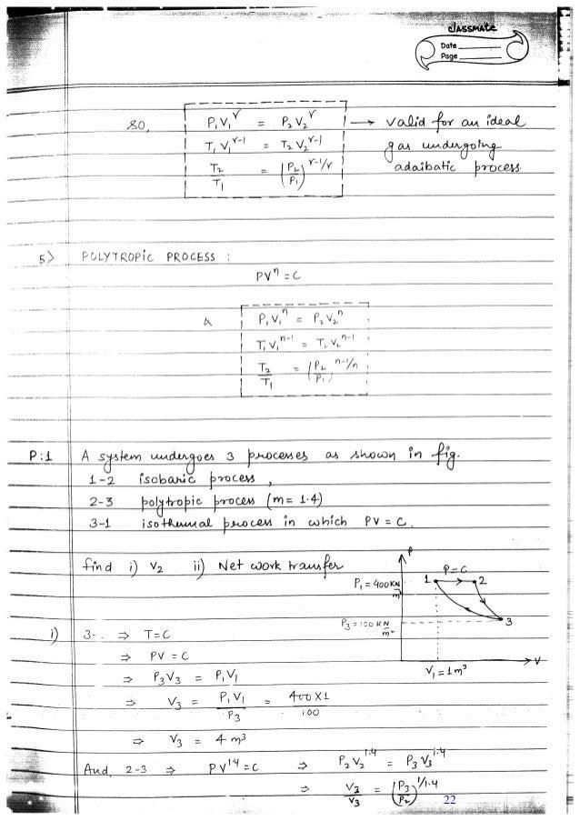 mechanical engineering thermodynamics notes pdf