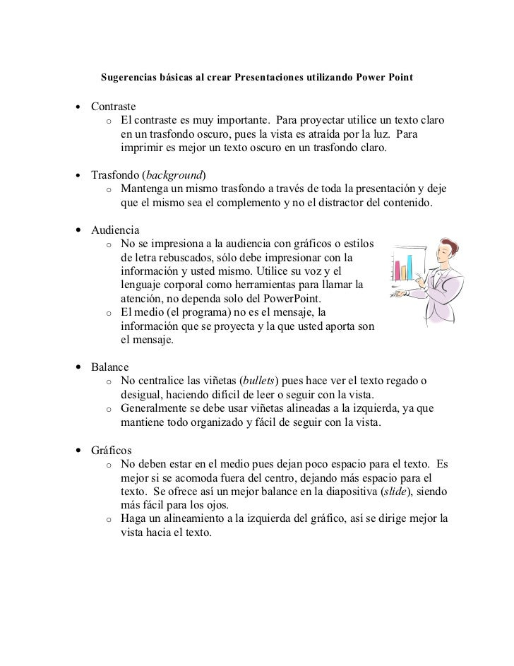 Sugerencias PowerPoint