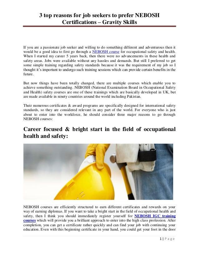 Basic tips for nebosh certifications