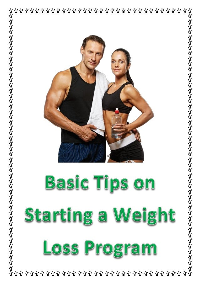 how to create your own weight loss program