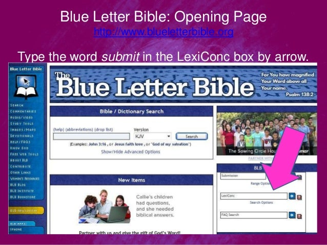 blue letter bible home page basic word study tools pt 1 blue letter bible from all 20653 | basic word study tools pt 1 blue letter bible from all nations leadership institute 6 638