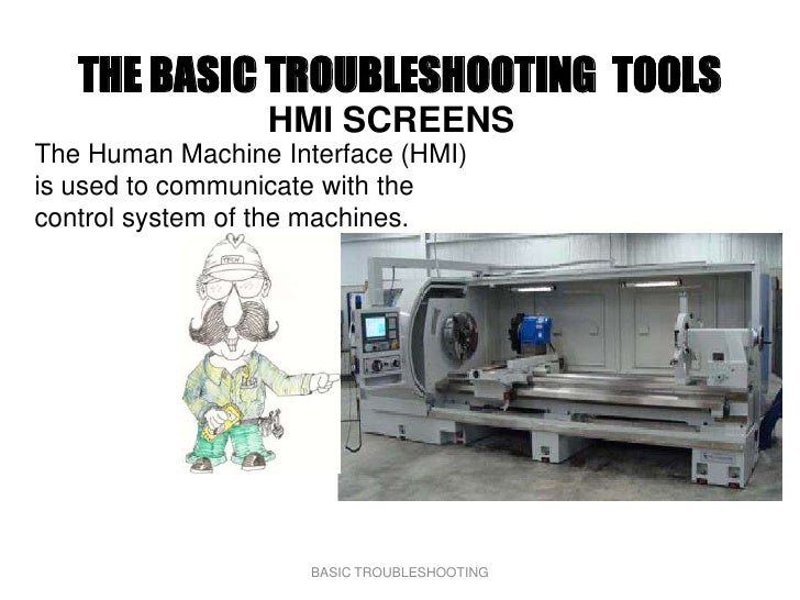 THE BASIC TROUBLESHOOTING TOOLS                  HMI SCREENS The Human Machine Interface (HMI) is used to communicate with...